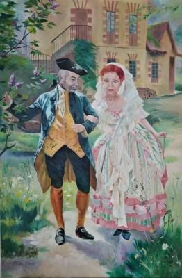 Conversation Galante au Hameau (Maurice Leloir)