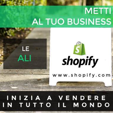 Inizia a vendere in tutto il mondo grazie a Shopify